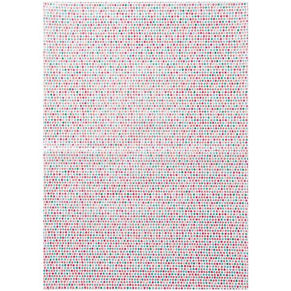 Rico Design Paper Patch Papier Dots mehrfarbig 30x42cm