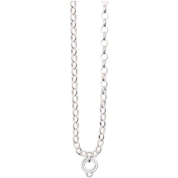 Rico Design Perlenkette mit Anhänger versilbert 70cm