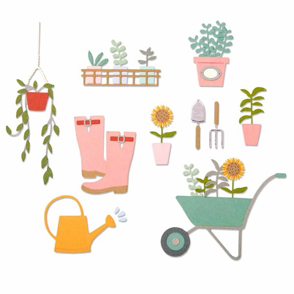 Sizzix Thinlits Die Set Garden Shed by Sophie Guilar