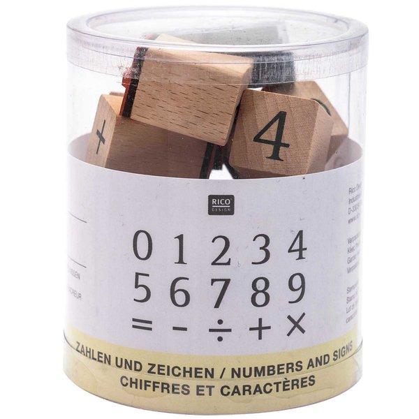 Rico Design Stempelset Zahlen 2x2cm 15 Stück