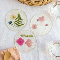 Anleitung Untersetzer aus Resin mit gepressten Blumen