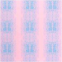 Rico Design Stoffabschnitt Druckstoff Muster bonbonrosa-azur 50x140cm