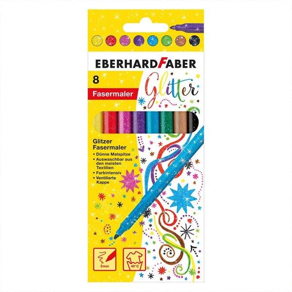 Eberhard Faber Glitter Fasermaler 8 Stück