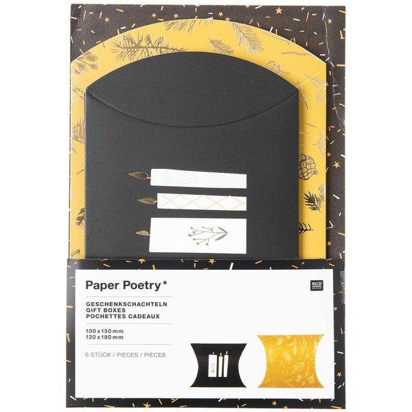 Paper Poetry Geschenkschachteln Nostalgic Christmas senf 6 Stück