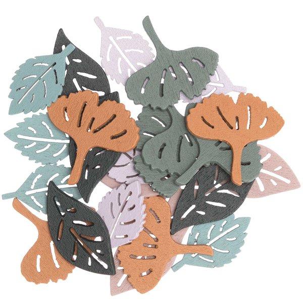 Ohhh! Lovely! Holzstreu Blätter mauve 24 Stück
