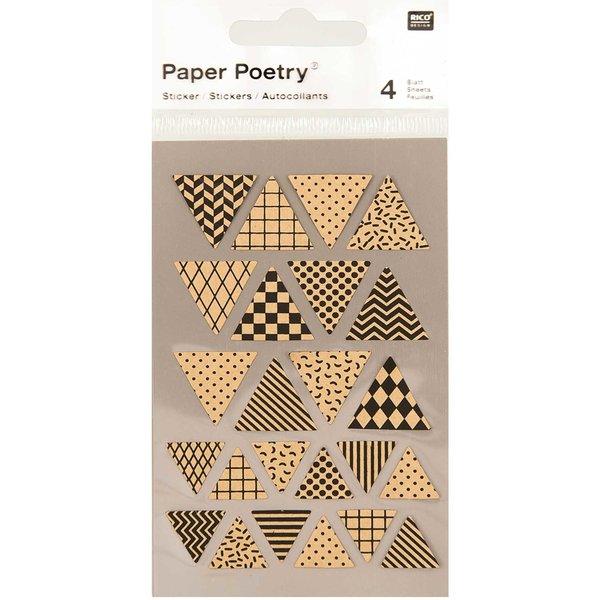 Paper Poetry Kraftpapiersticker Wimpel 4 Bogen