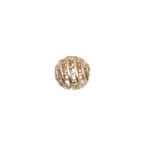 Jewellery Made by Me Metallkugel Kreise gold 10mm 6 Stück