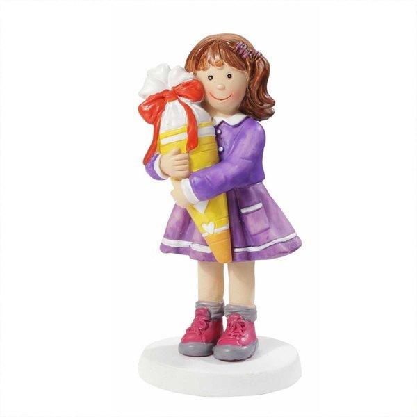 HobbyFun Dekofigur Mädchen mit Schultüte 8,5cm