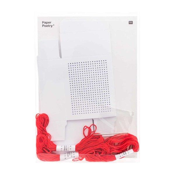 Paper Poetry Geschenkboxen zum Besticken weiß 3er Set