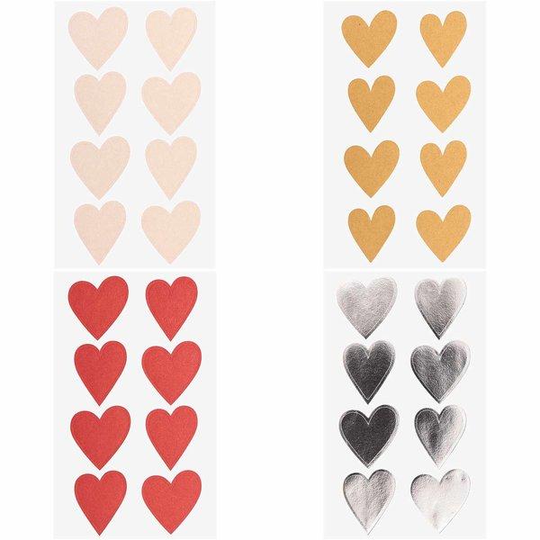 Paper Poetry Sticker Herzen 4 Blatt