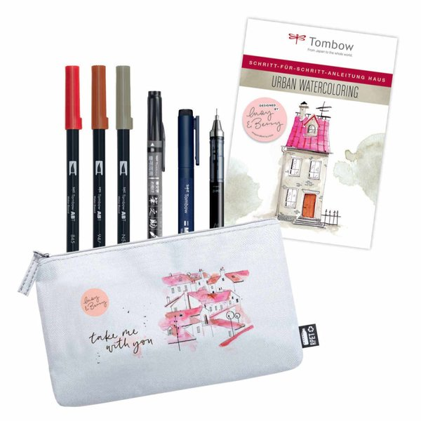 Tombow Urban Watercoloring Set by May & Berry