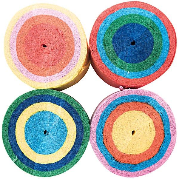YEY! Let's Party Kreppbänder Cake mehrfarbig 3,5cm 10m 4 Stück
