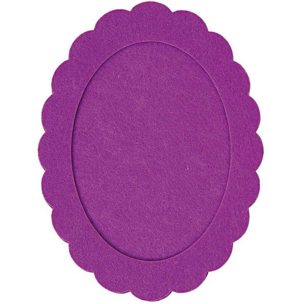 Rico Design Filzrahmen oval lila 15x20cm