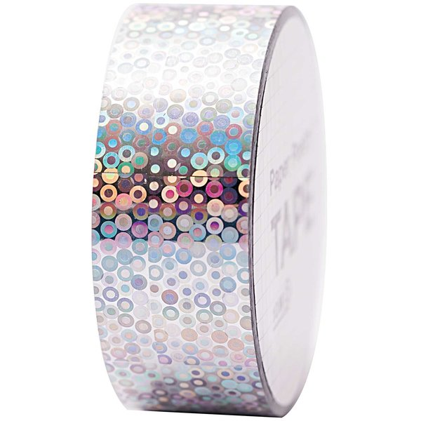Paper Poetry Holographic Tape Kreise silber 19mm 10m