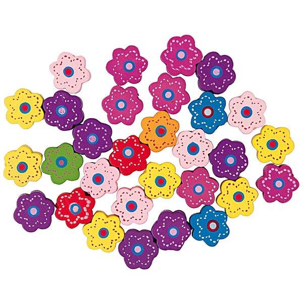 Rico Design Blüten mehrfarbig 14mm 32 Stück