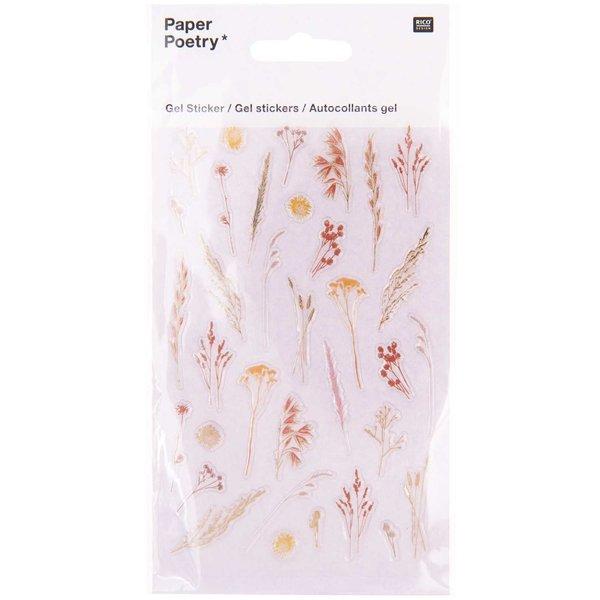 Paper Poetry Gelsticker Gräser 1 Blatt