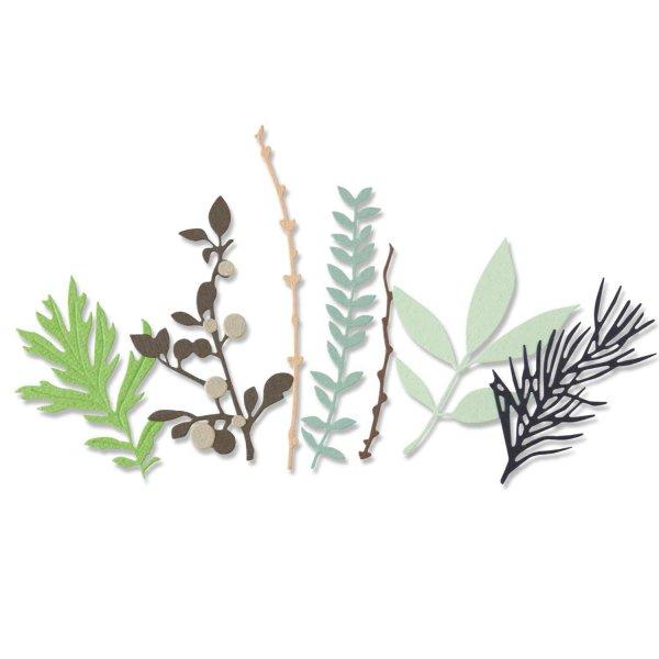 Sizzix Thinlits Die Set Hidden Leaves
