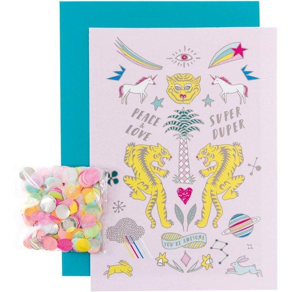 Paper Poetry Grußkartenset Wonderland Tiger