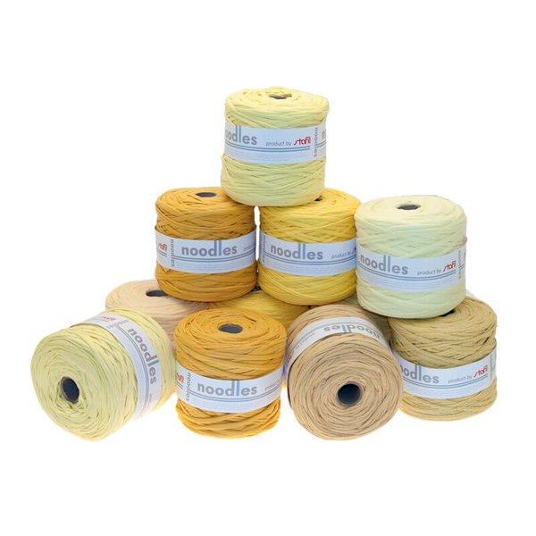 noodles Textilgarn Gelbtöne ca. 500-700g