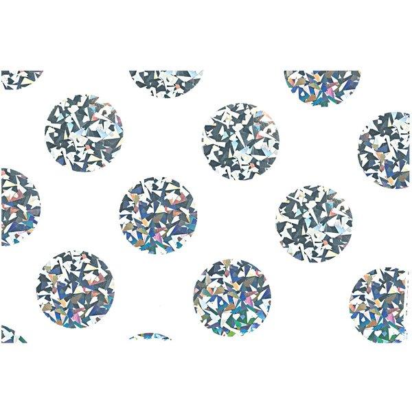 Paper Poetry Seidenpapier weiß Punkte irisierend 70x50cm 4 Stück Hot Foil