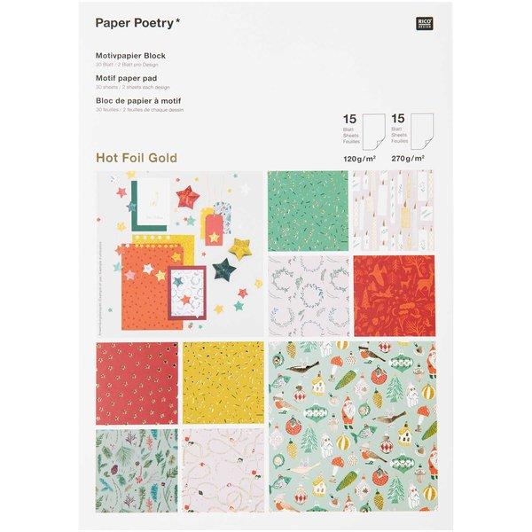 Paper Poetry Motivpapier Nostalgic Christmas classic 30 Blatt
