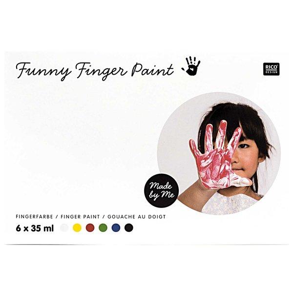 Rico Design Fingerfarbe Set 6x35ml