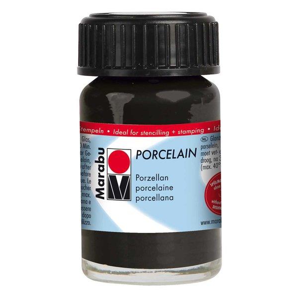 Marabu Porcelain schwarz 15ml