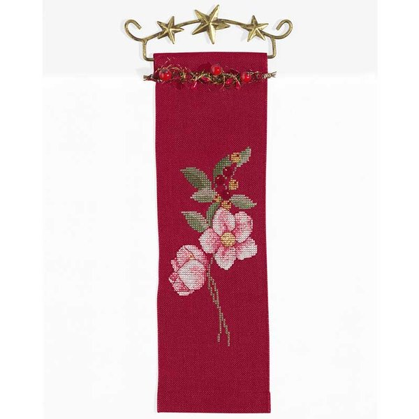 Rico Design Stickpackung Behang Christrose 10x32cm