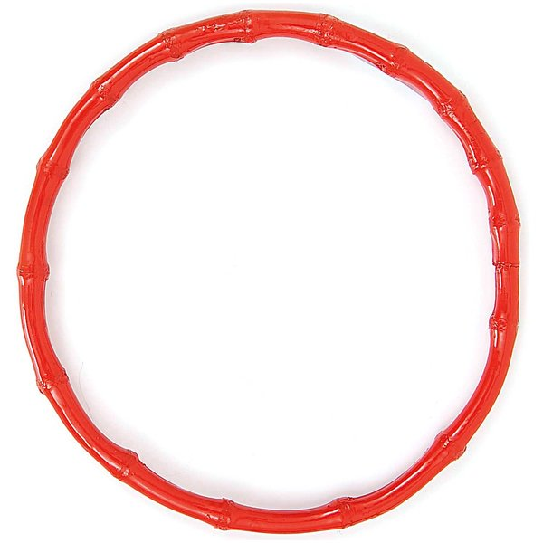 Rico Design Taschengriffe rund Bambus rot 15cm 2 Stück