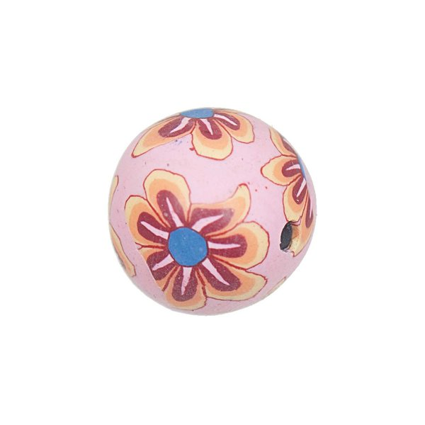 Jewellery Made by Me Kugel Blumen rosa 11mm 5 Stück