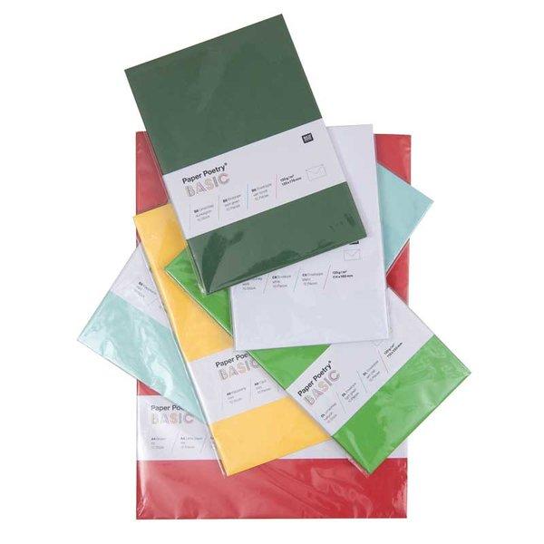 Rico Design Kuvert Basic B6 10 Stück