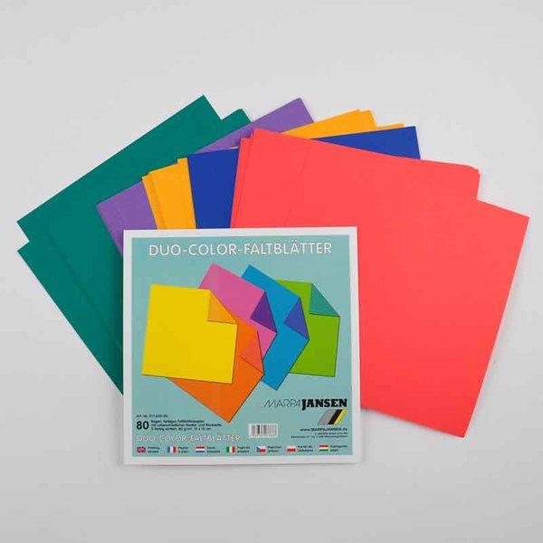 MARPA JANSEN Faltblätter Duo Color 15x15cm 80Blatt