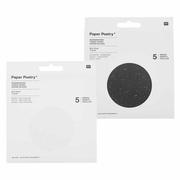 Paper Poetry Seidenpapier Punkte 50x70cm 17g/m² 5 Bogen