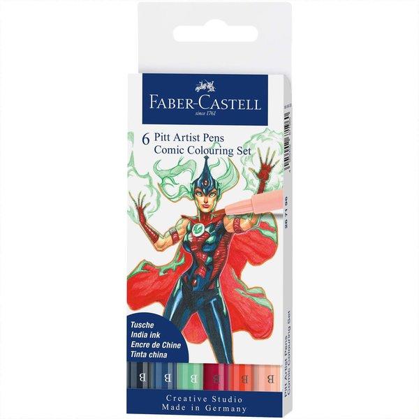 Faber Castell Pitt Artist Pen Comic Tuschestift-Set 6teilig