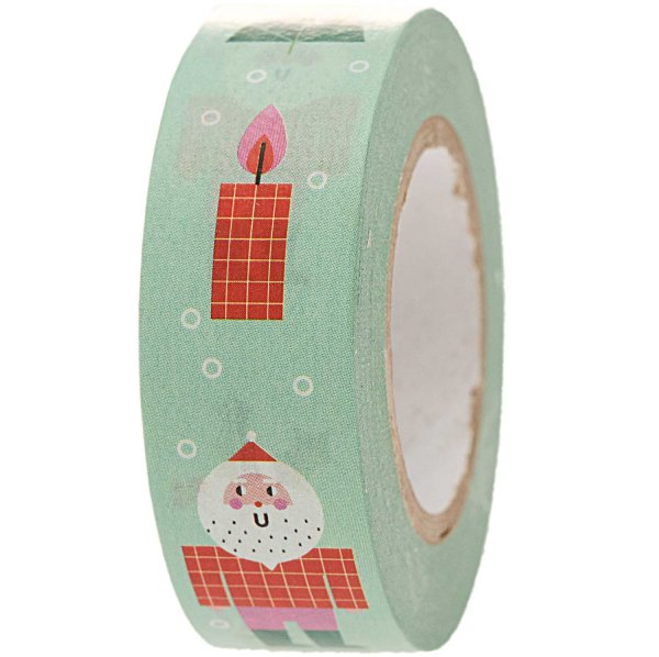 Paper Poetry Tape Weihnachtsfiguren mint 1,5cm 10m