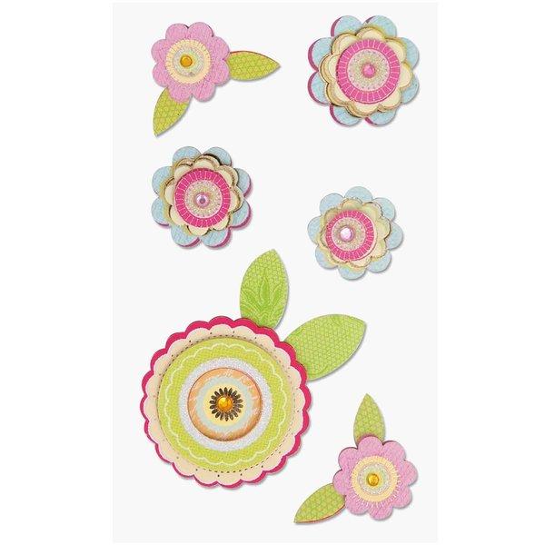 Paper Poetry 3D Sticker Blüten mit Blätter