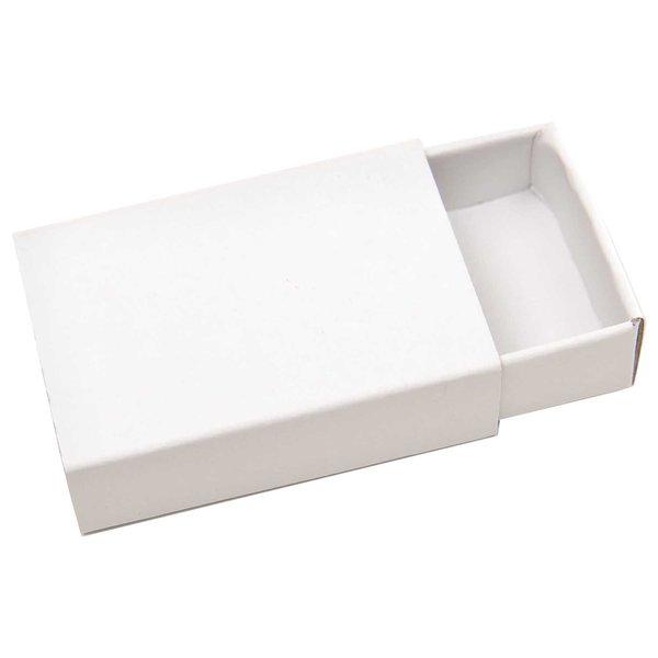 Rico Design Streichholzschachteln klein 5,4x3,6x1,6cm weiß 10 Stück