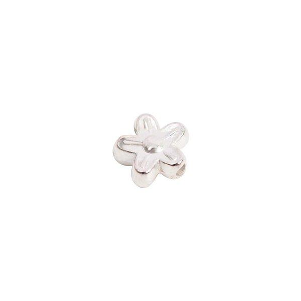 Rico Design 30 Blumen silber 9mm 30 Stück
