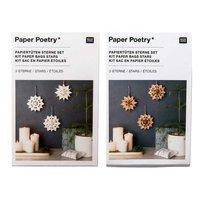 Paper Poetry Bastelset Papiertüten-Sterne klein