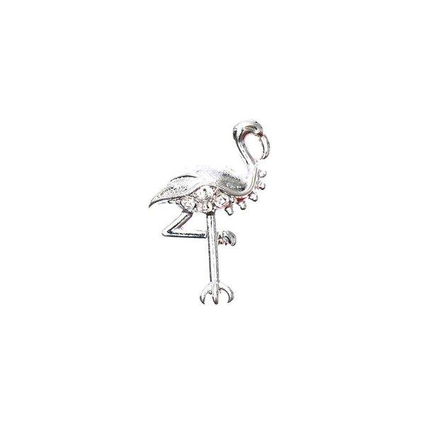 Rico Design Anhänger Flamingo silber 20x13mm 4 Stück