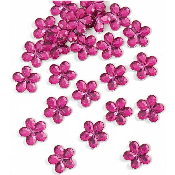 Rico Design Sticker Blüte rosa 24 Stück