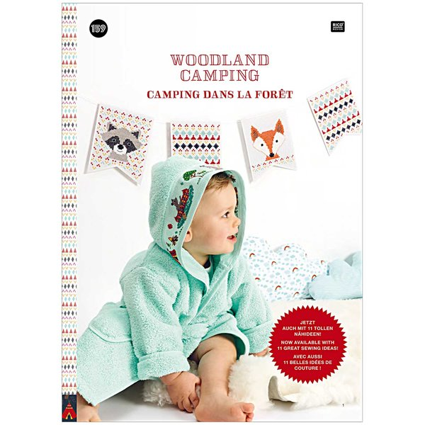 Rico Design Stickbuch Nr. 159 Woodland Camping