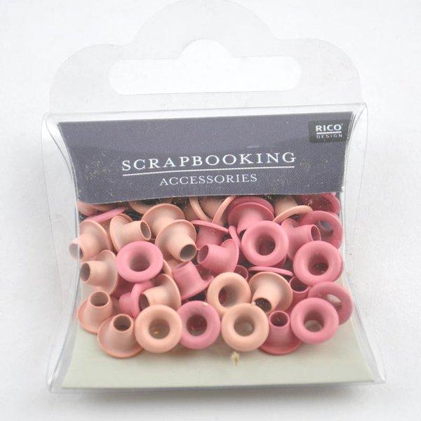 Rico Design Ösen pink 7mm 50 Stück