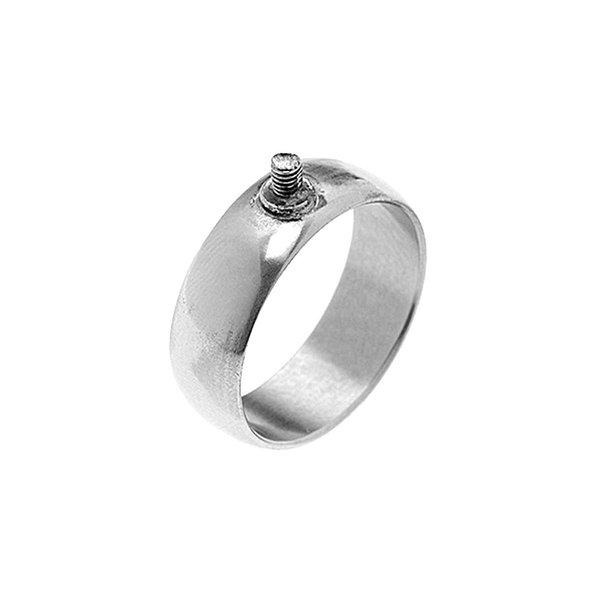 Rico Design Ring breit 20mm Schraubgewinde silber