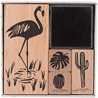 Paper Poetry Stempelset Tropical Spring Flamingo 4 Stück