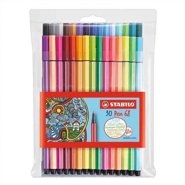 Stabilo Pen 68 im Etui 30 Farben