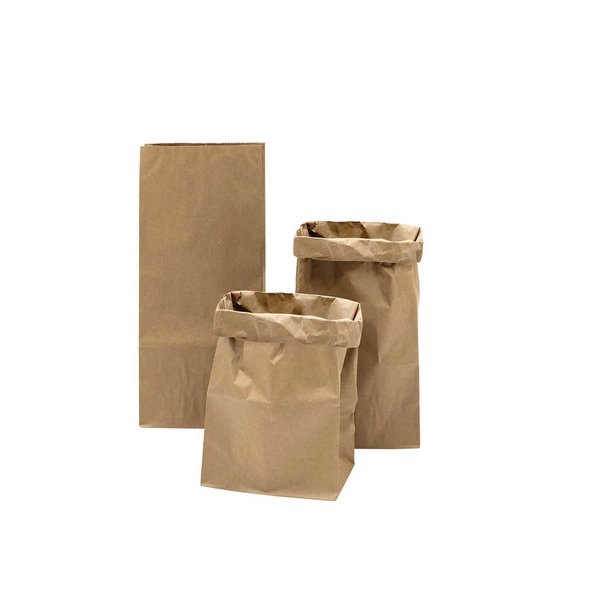 Paper Poetry Maxi-Blockbodenbeutel S braun-braun 41x18x12cm 3 Stück