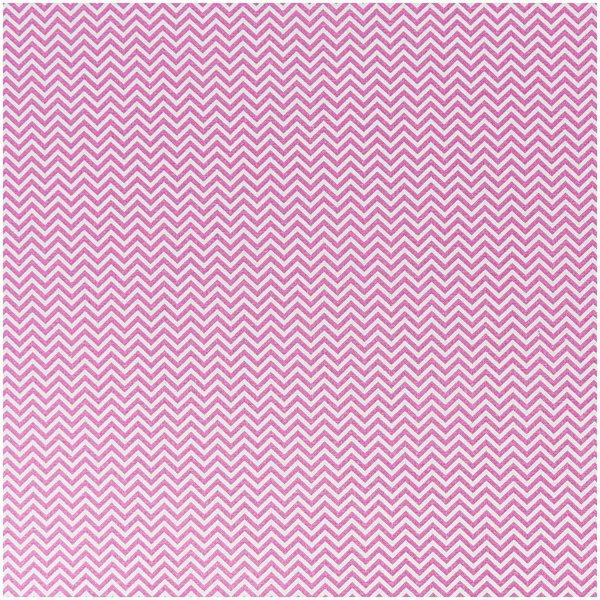 Rico Design Stoff Zickzack rosa 160cm