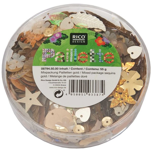 Rico Design Pailletten Mix gold 55g