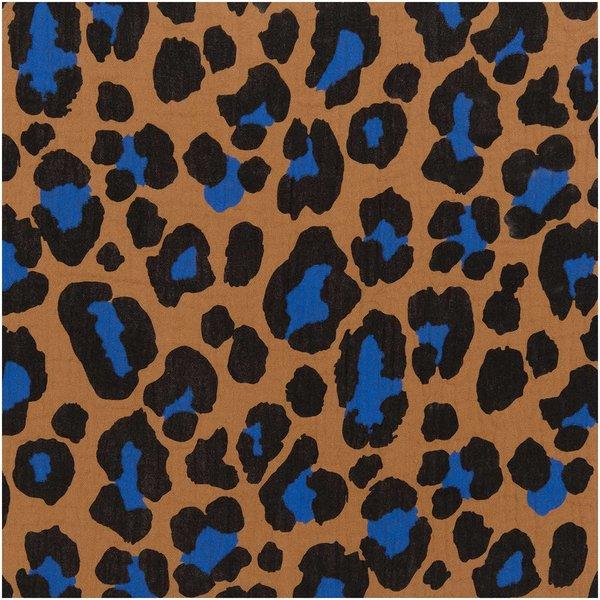 Rico Design Stoffabschnitt Krinkelmusselin Acid Leo zimt 50x130cm